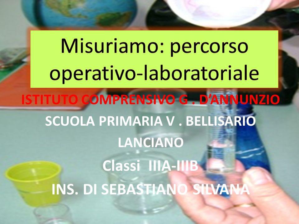 Misuriamo: percorso operativo-laboratoriale