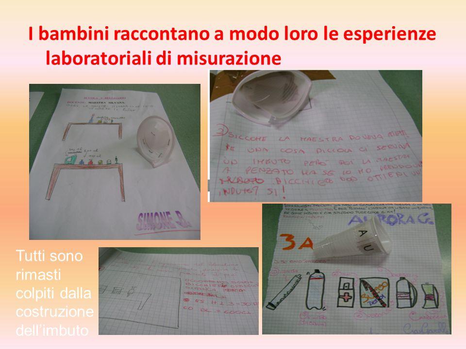 I bambini raccontano a modo loro le esperienze laboratoriali di misurazione