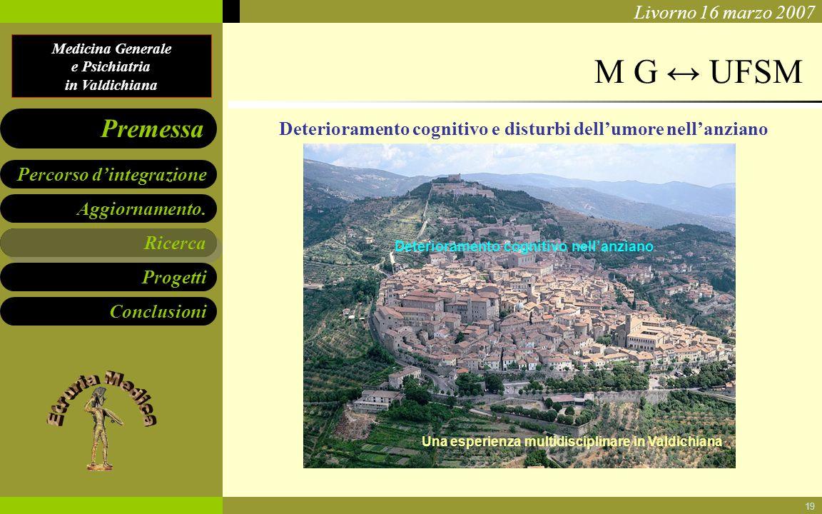 M G ↔ UFSM Deterioramento cognitivo e disturbi dell'umore nell'anziano