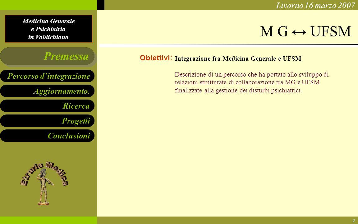 M G ↔ UFSM Premessa Obiettivi: