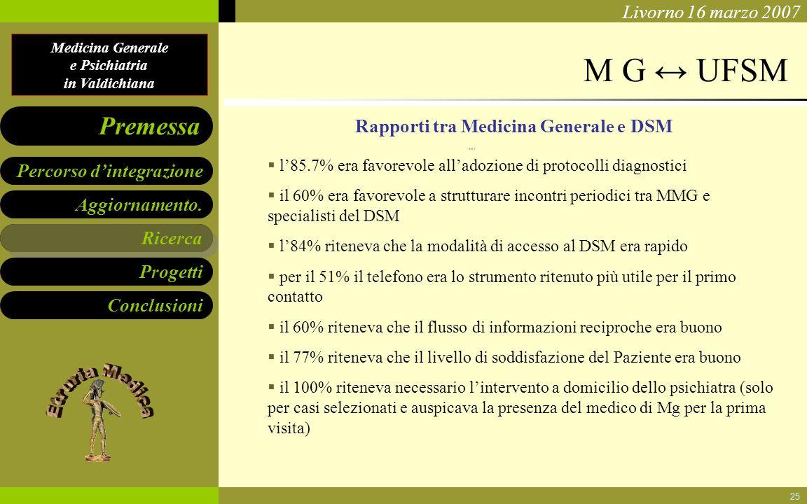 Rapporti tra Medicina Generale e DSM
