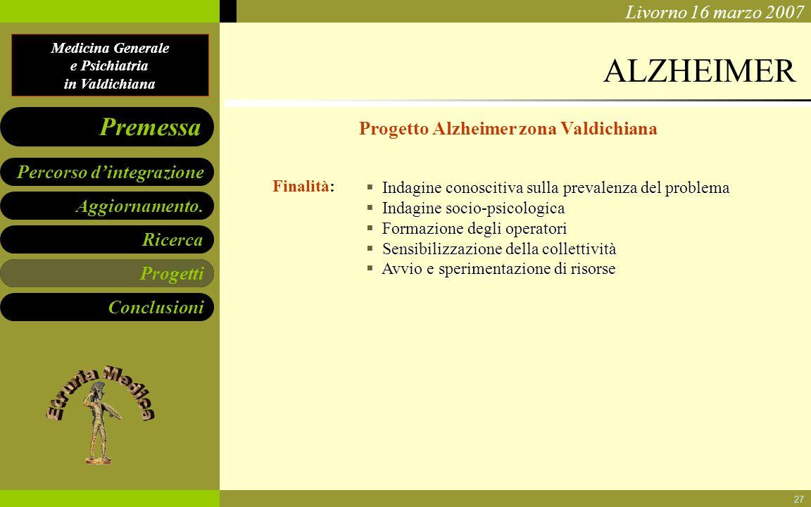 Progetto Alzheimer zona Valdichiana