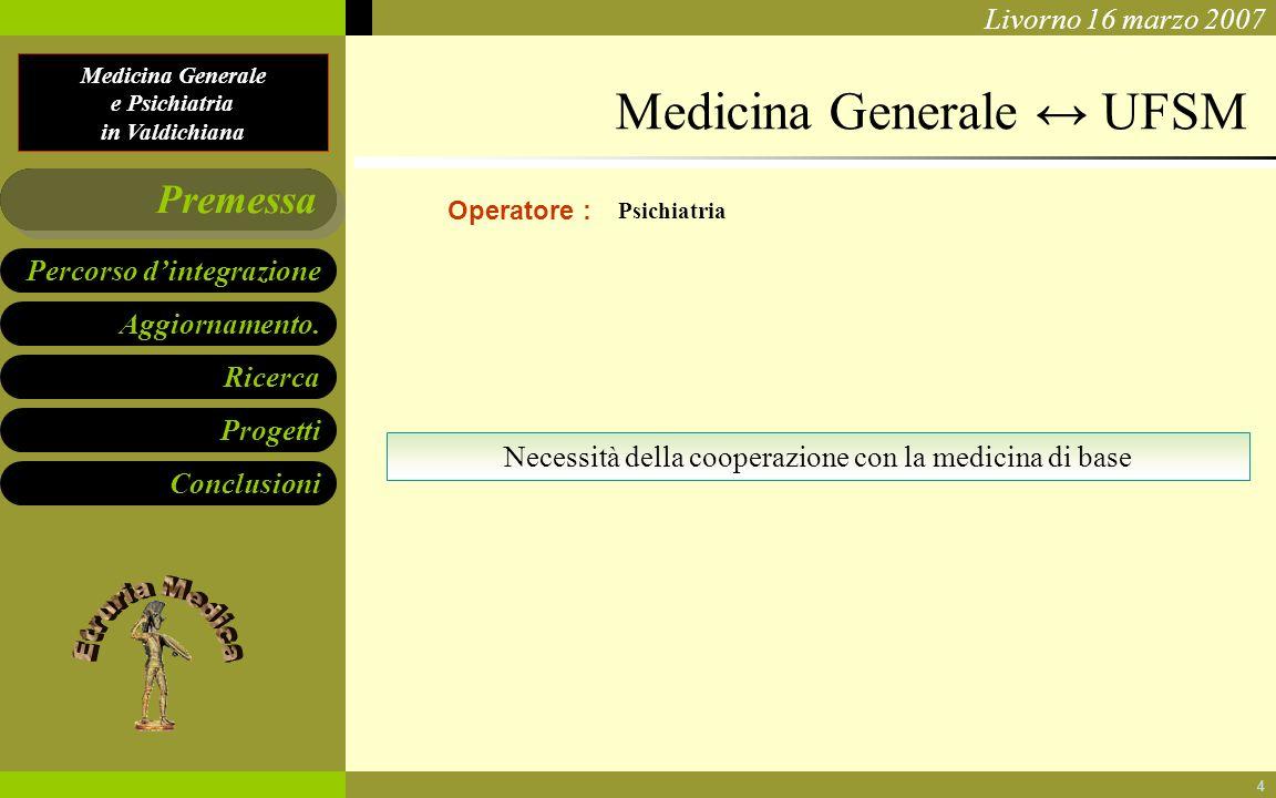 Necessità della cooperazione con la medicina di base