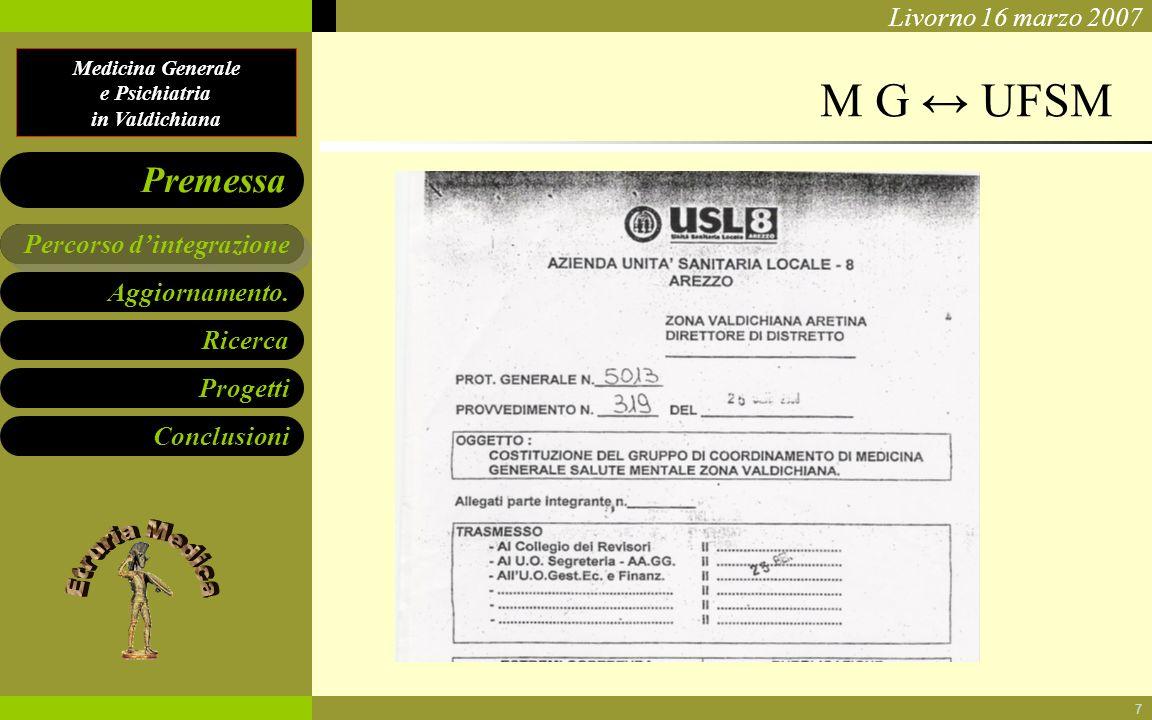 M G ↔ UFSM Percorso d'integrazione