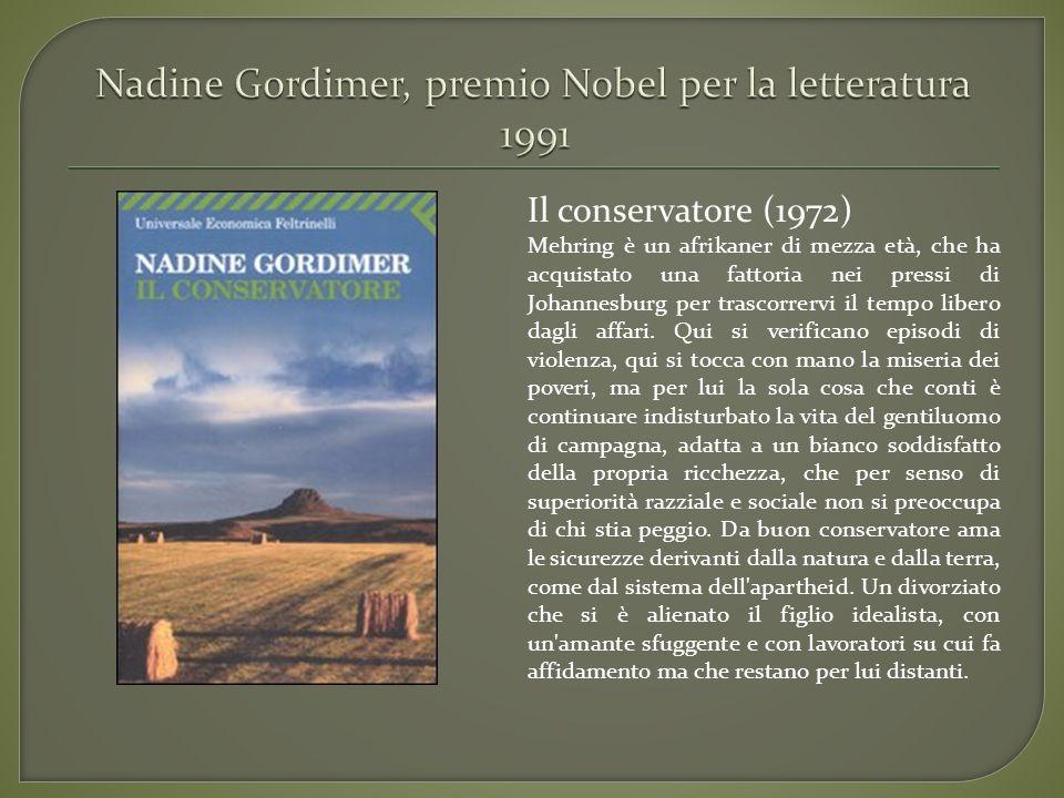 Nadine Gordimer, premio Nobel per la letteratura 1991