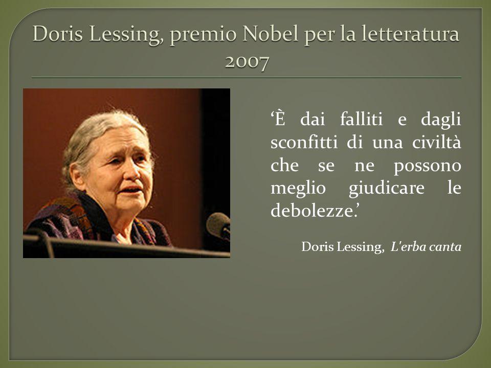 Doris Lessing, premio Nobel per la letteratura 2007