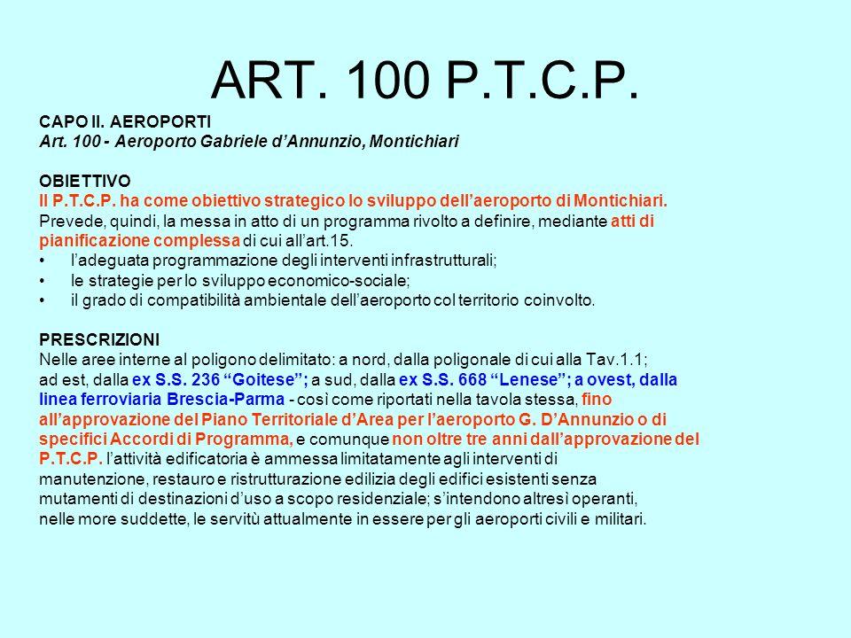 ART. 100 P.T.C.P. CAPO II. AEROPORTI