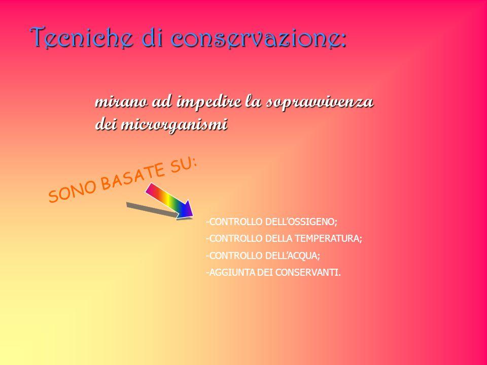 Tecniche di conservazione: