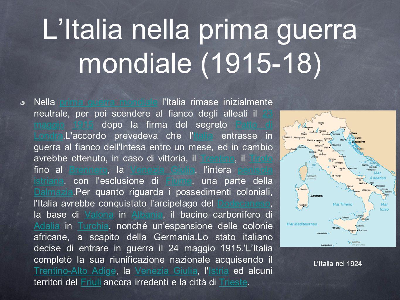 L'Italia nella prima guerra mondiale (1915-18)