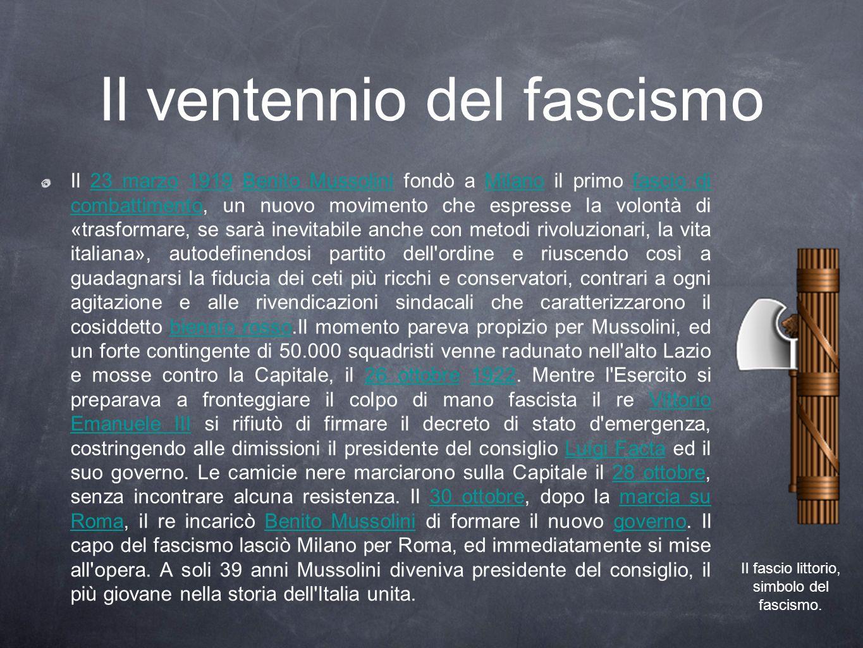 Il ventennio del fascismo