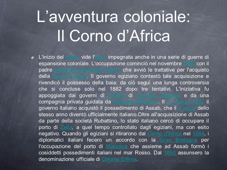 L'avventura coloniale: Il Corno d'Africa