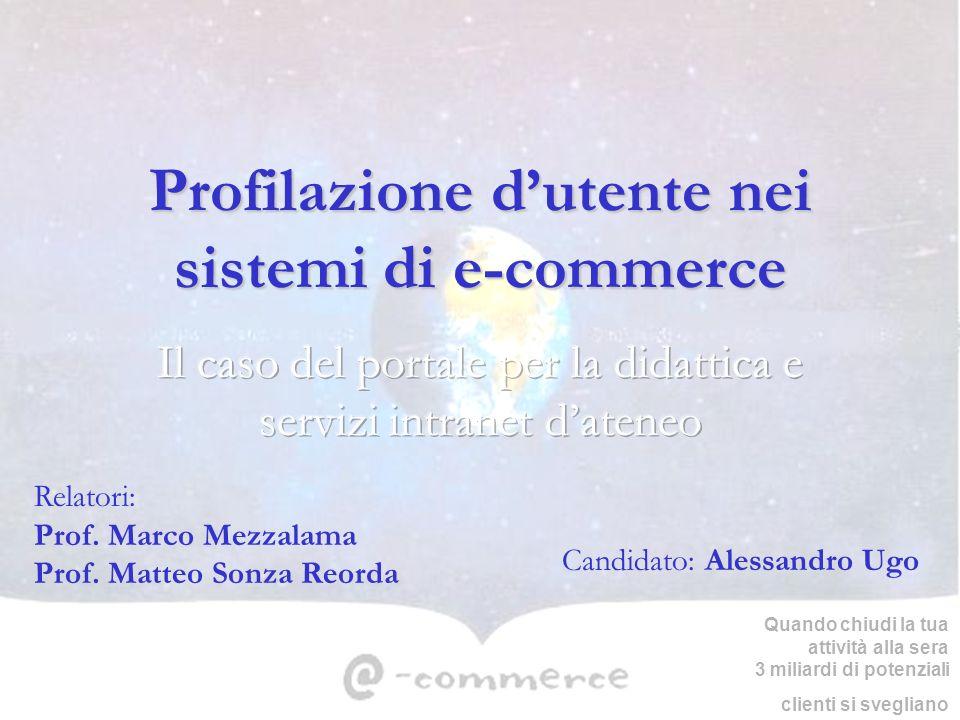 Profilazione d'utente nei sistemi di e-commerce