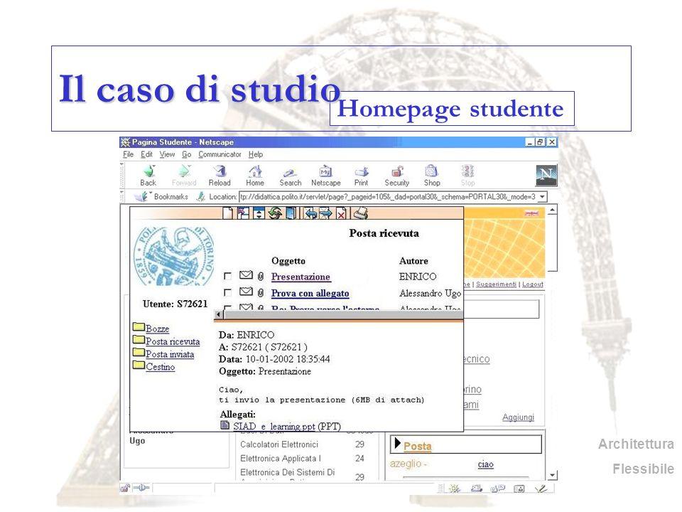 Il caso di studio Homepage studente Architettura Flessibile