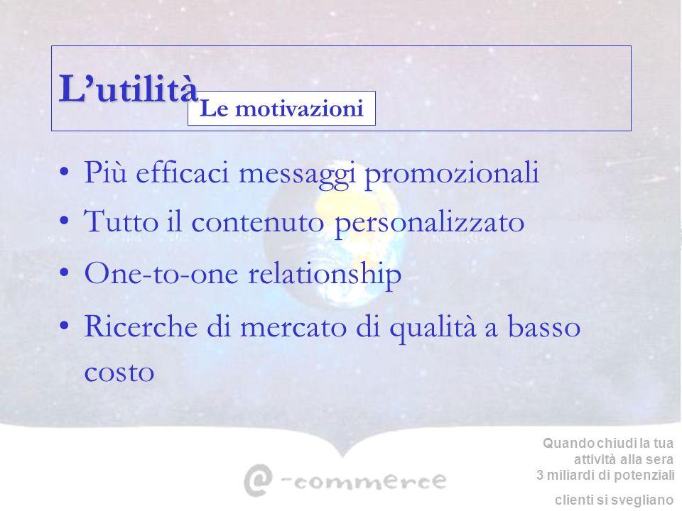 L'utilità Più efficaci messaggi promozionali