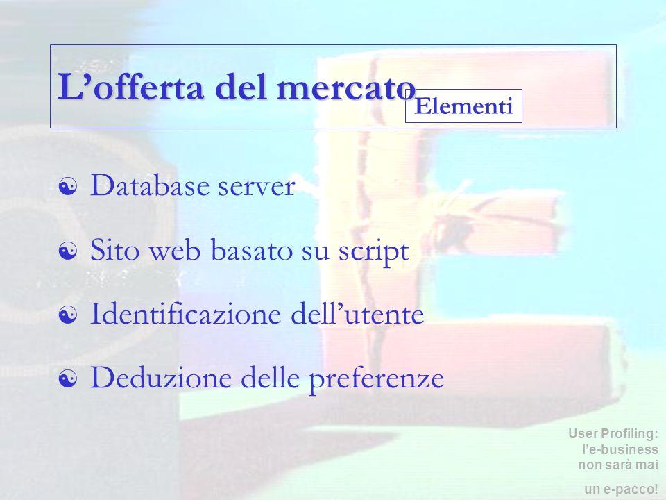 L'offerta del mercato Database server Sito web basato su script