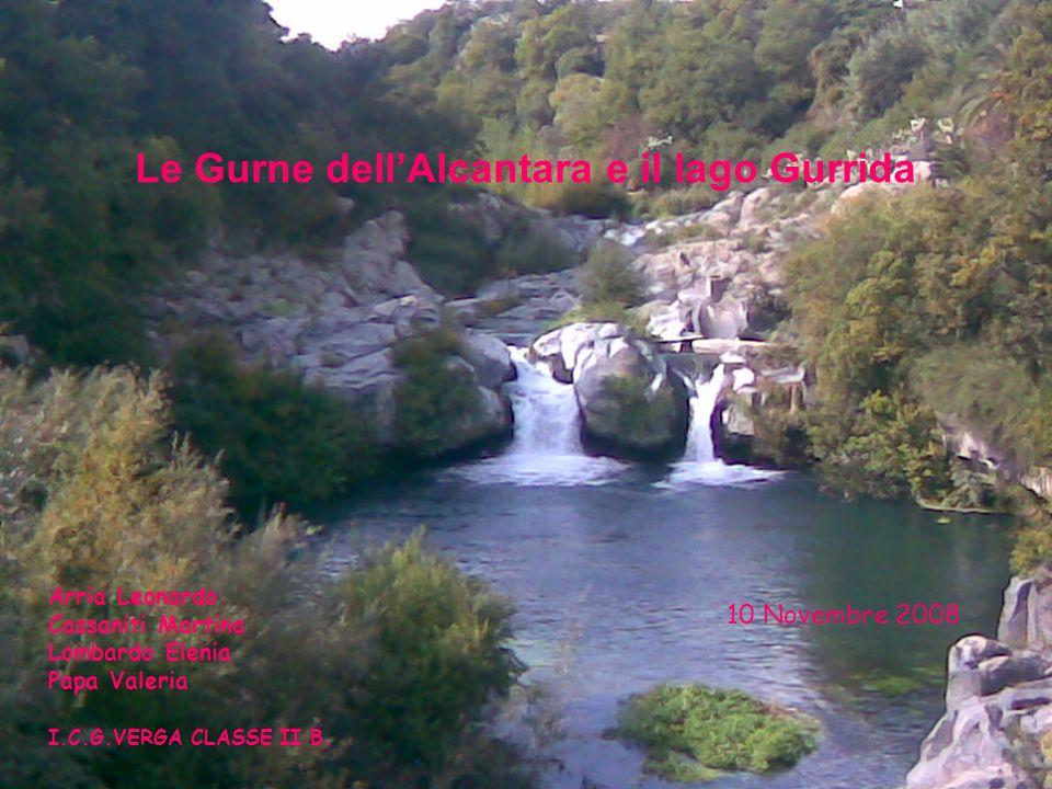 Le Gurne dell'Alcantara e il lago Gurrida