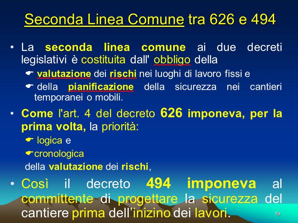 Seconda Linea Comune tra 626 e 494