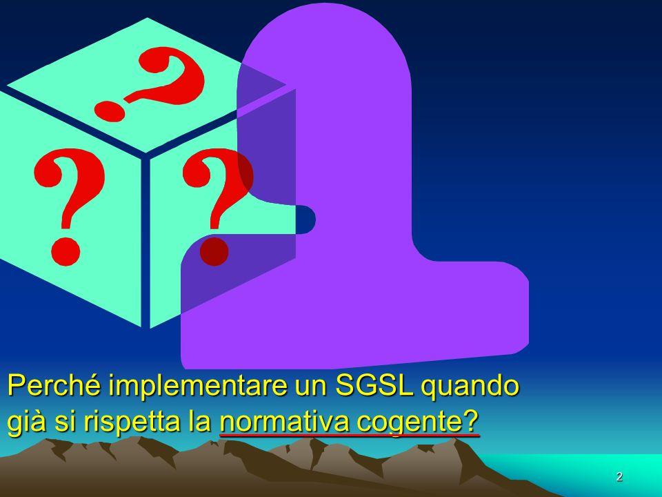 Perché implementare un SGSL quando