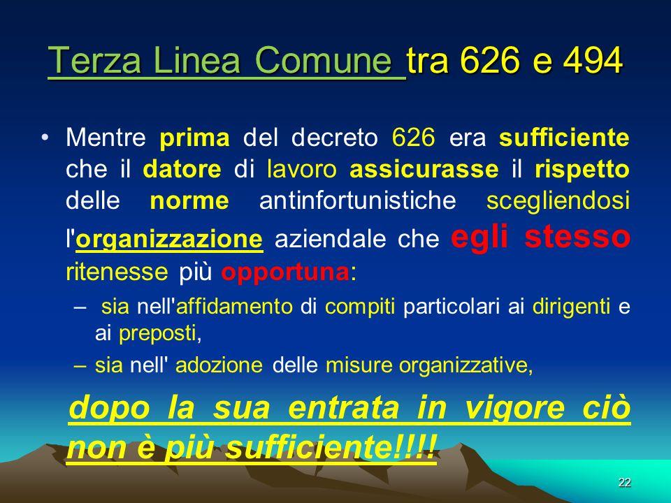 Terza Linea Comune tra 626 e 494