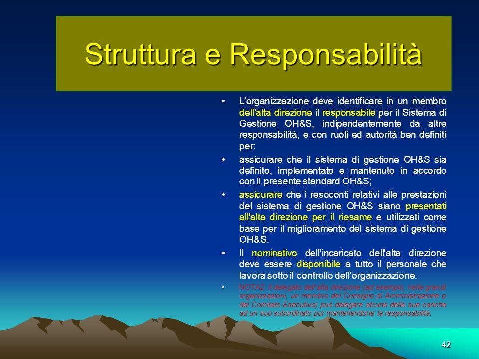 Struttura e Responsabilità