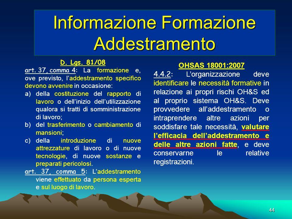 Informazione Formazione Addestramento