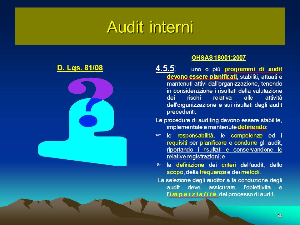 Audit interniOHSAS 18001:2007.