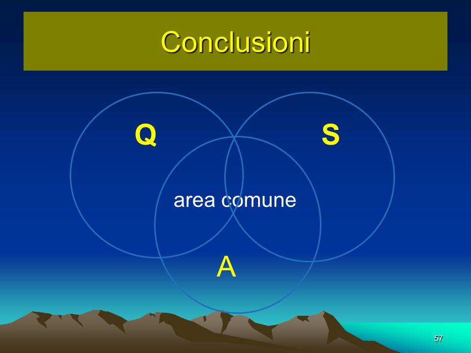 Conclusioni Q S area comune A