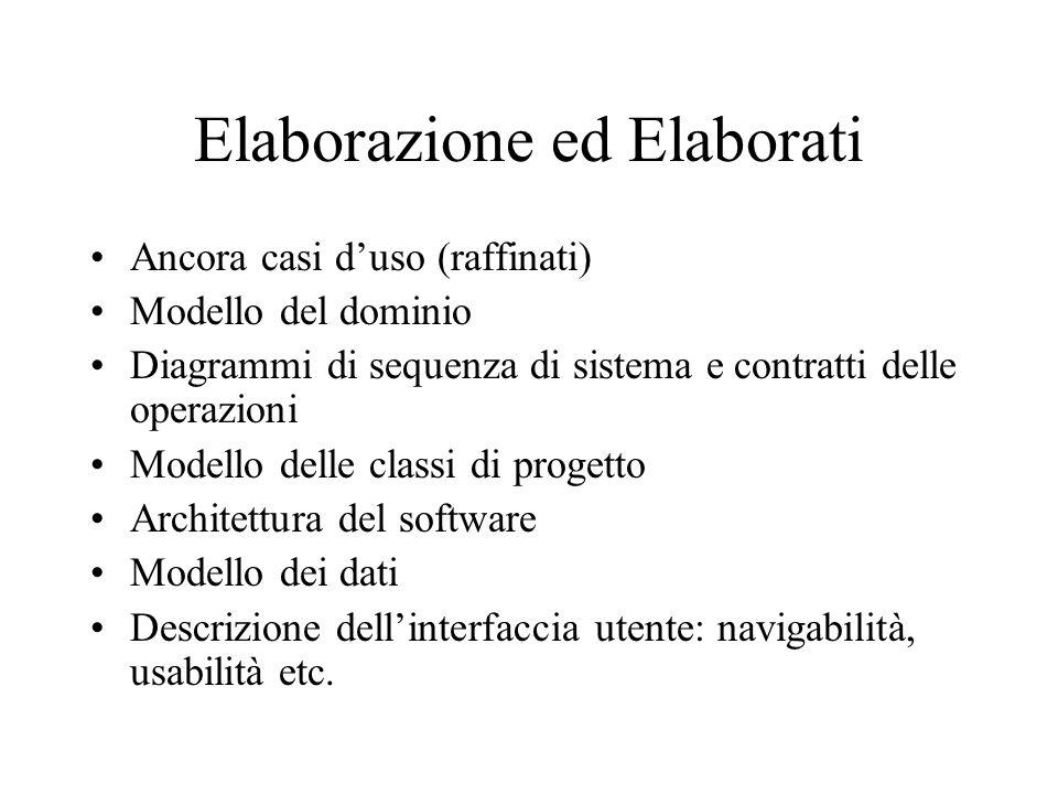 Elaborazione ed Elaborati