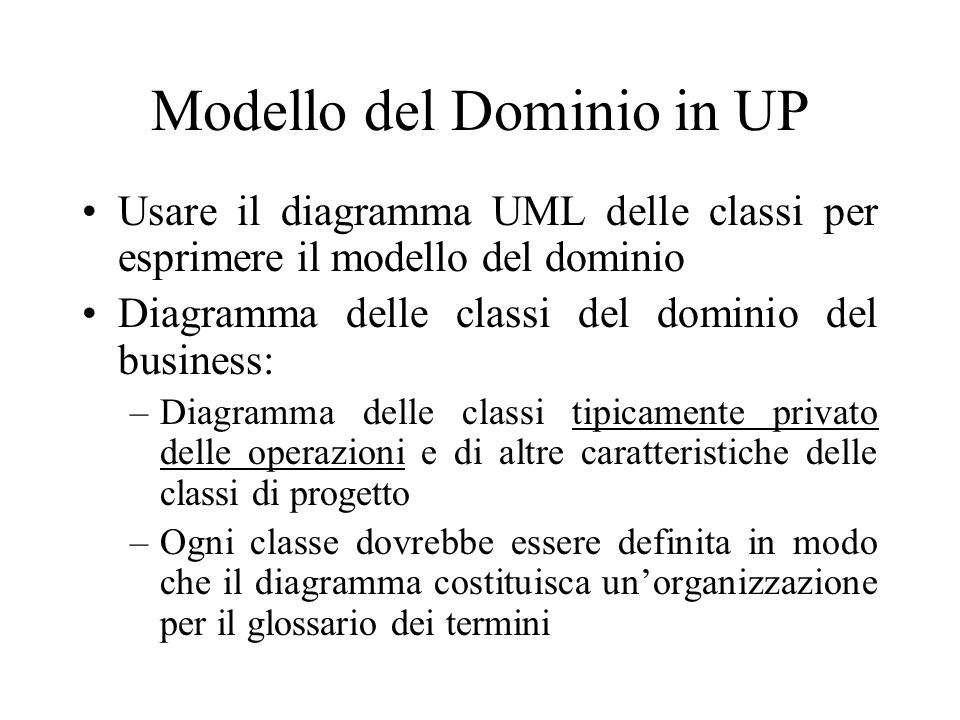 Modello del Dominio in UP