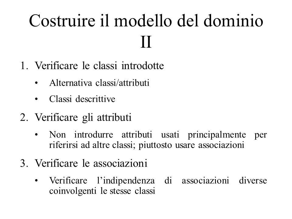 Costruire il modello del dominio II