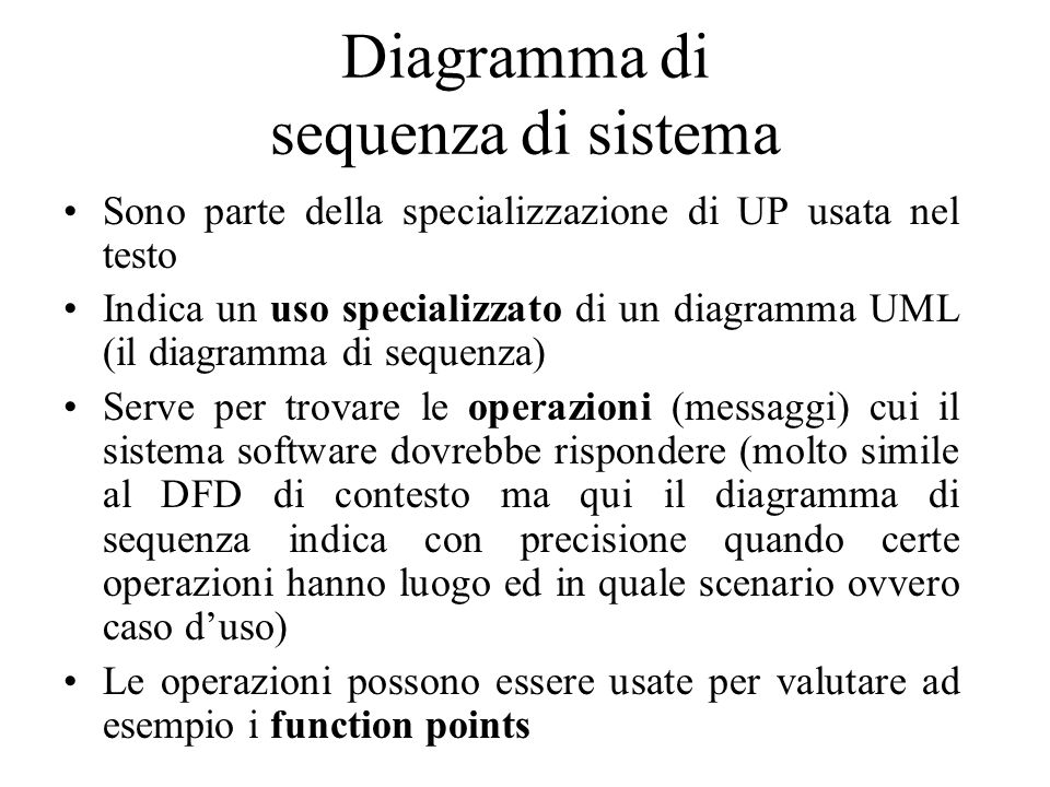 Diagramma di sequenza di sistema