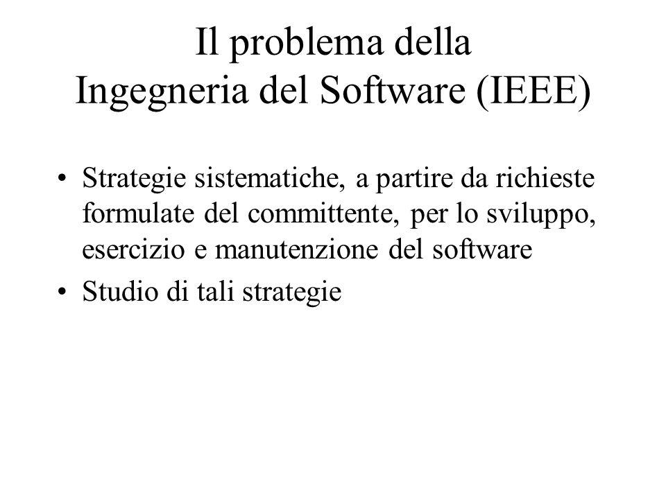 Il problema della Ingegneria del Software (IEEE)