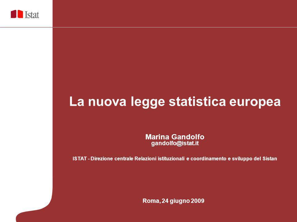 La nuova legge statistica europea