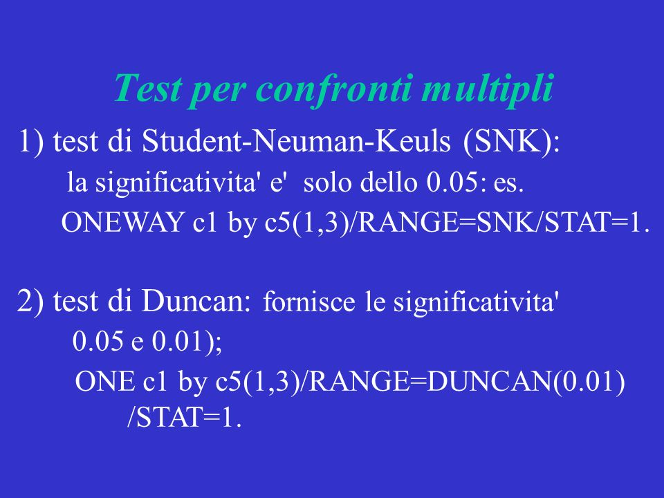 Test per confronti multipli