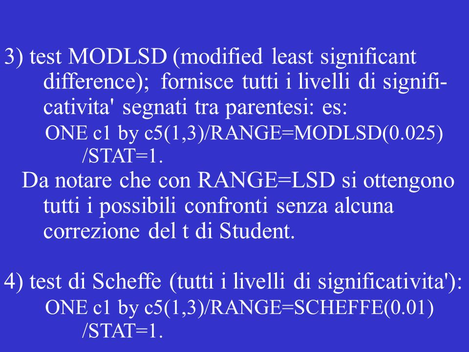 3) test MODLSD (modified least significant
