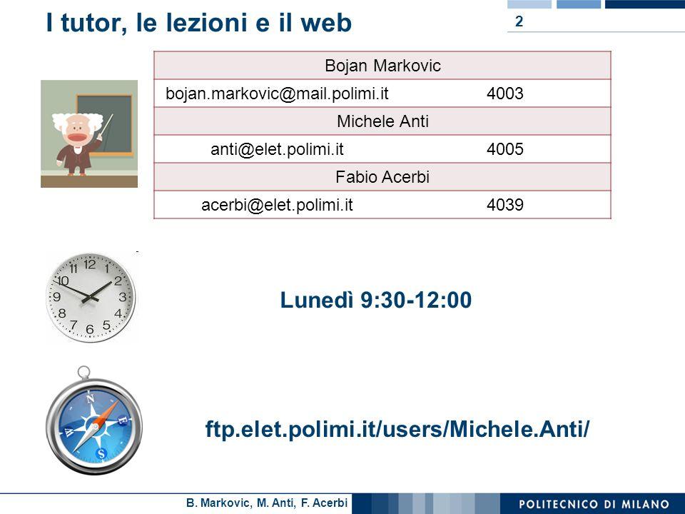 I tutor, le lezioni e il web