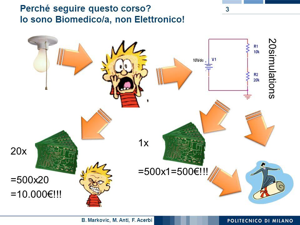 Perché seguire questo corso Io sono Biomedico/a, non Elettronico!