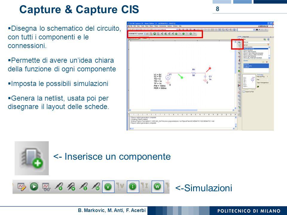 Capture & Capture CIS <- Inserisce un componente <-Simulazioni