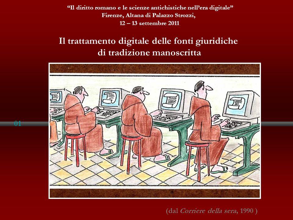 Il trattamento digitale delle fonti giuridiche