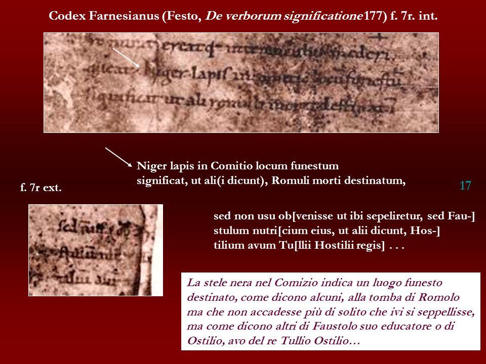 Codex Farnesianus (Festo, De verborum significatione 177) f. 7r. int.