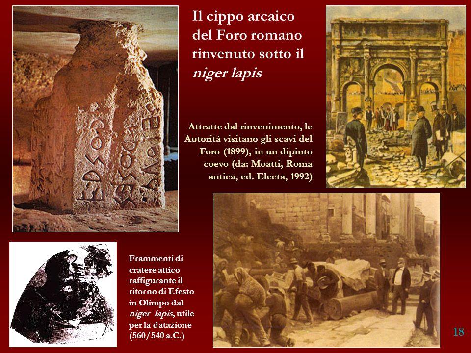 Il cippo arcaico del Foro romano rinvenuto sotto il niger lapis