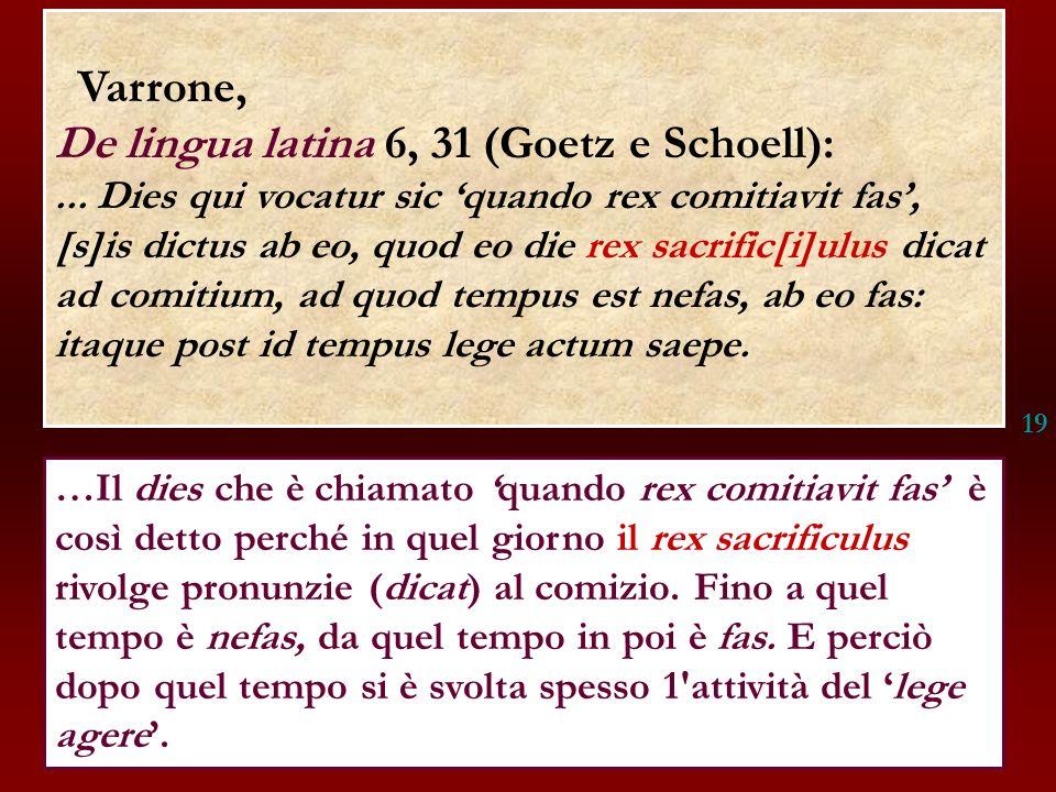De lingua latina 6, 31 (Goetz e Schoell):