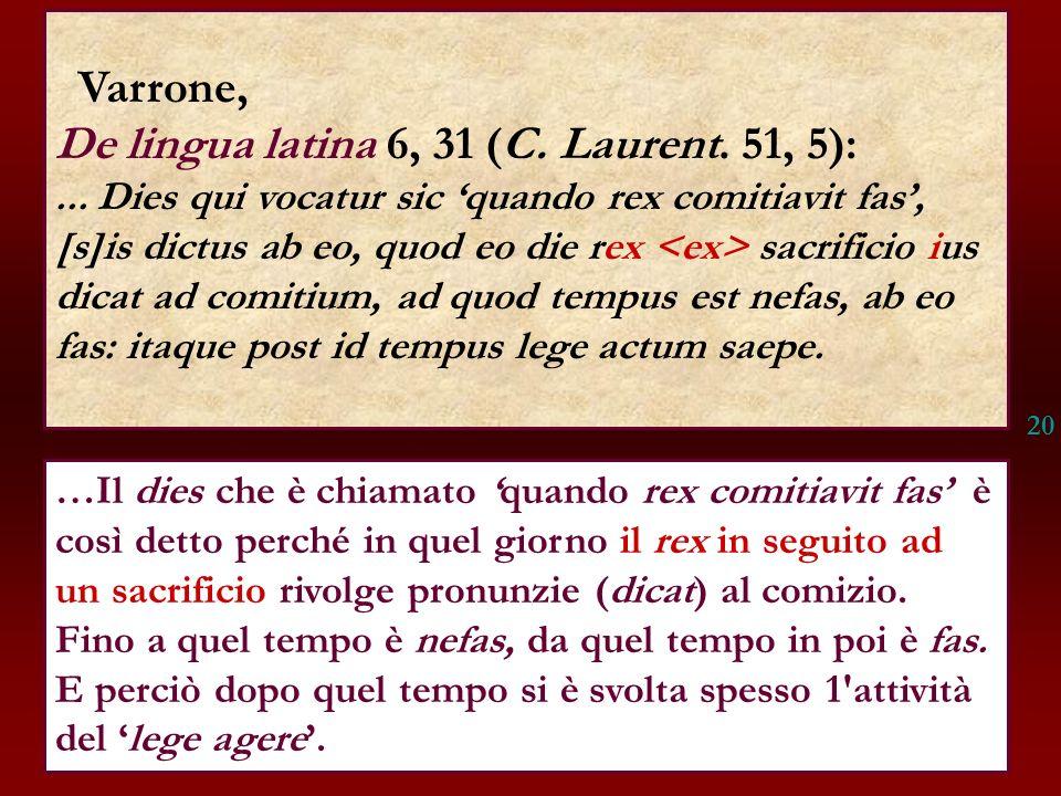 De lingua latina 6, 31 (C. Laurent. 51, 5):