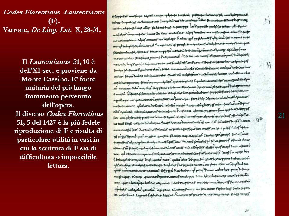 21 Codex Florentinus Laurentianus (F).