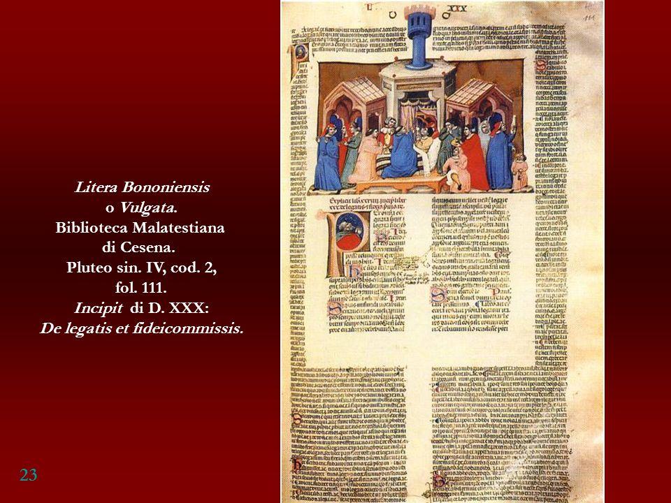 Biblioteca Malatestiana De legatis et fideicommissis.