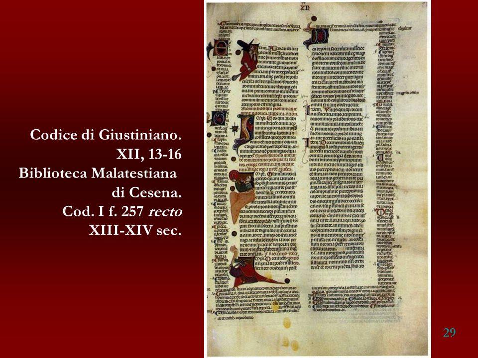 Biblioteca Malatestiana di Cesena. Cod. I f. 257 recto XIII-XIV sec.
