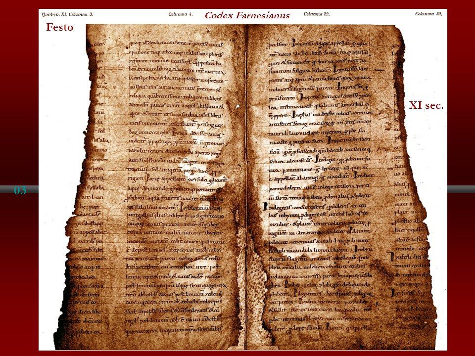 Codex Farnesianus Festo XI sec. 03