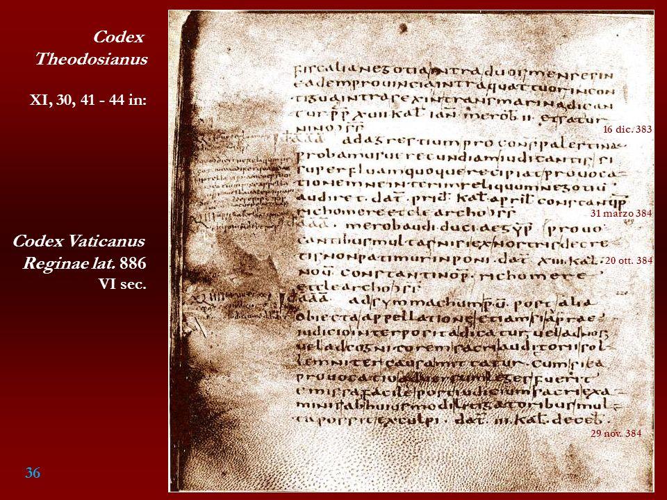 Codex Theodosianus Codex Vaticanus Reginae lat. 886