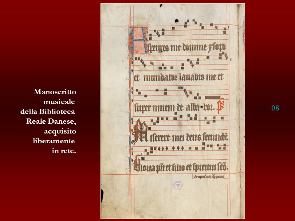 Manoscritto musicale della Biblioteca Reale Danese, acquisito liberamente in rete. 08