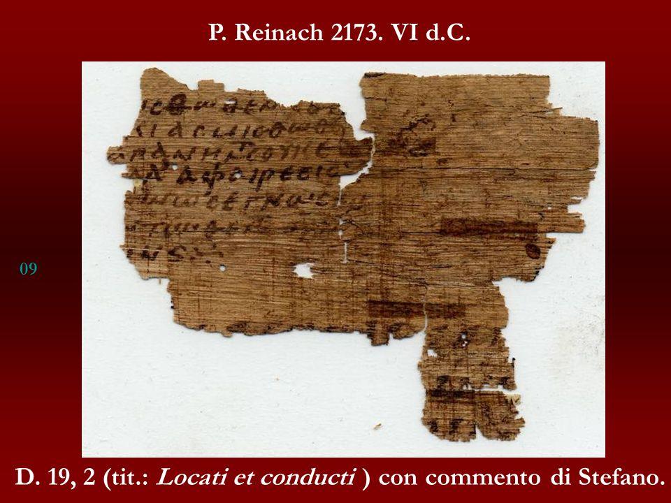 D. 19, 2 (tit.: Locati et conducti ) con commento di Stefano.